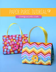 Easy Paper Craft For Kids - how to make paper purse party favors paper craft tutorial