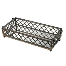 decorating rectangular mirrored tray for pretty home accessories