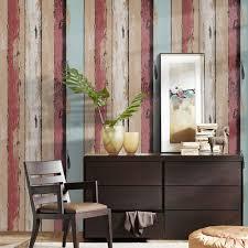 wood panel peel stick wallpaper crimson brown tan lt blue self