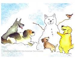 dog card dog christmas card dog art funny dogs