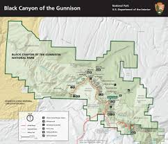 Us National Parks Map Black Canyon Of The Gunnison National Park U2013 Journal Geographica