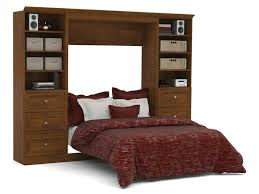 Bedroom Wall Units With Drawers Bedroom Full Wall Bed And Storage Units With Drawers In Chocolate