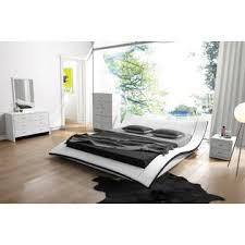 Black Leather Platform Bed Container Furniture Direct Riley Modern Faux Leather Platform Bed