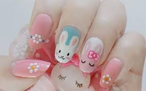 how to make cute diy easter bunny nail design how to instructions
