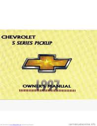 Chevrolet S10 1997 2 G Owners Manual