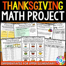 planning thanksgiving math project differentiated real world