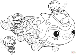 the octonauts meet dunkie coloring page free printable coloring