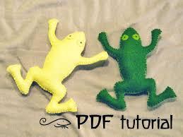 frog felt frog frog pattern frog pdf animal pattern felt