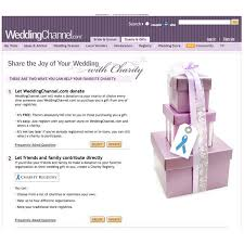 wedding registry charity charity registry by weddingchannel easy online wedding