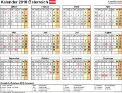 Kalender 2018 Hessen Din A4 Kalender 2018 österreich In Excel Zum Ausdrucken