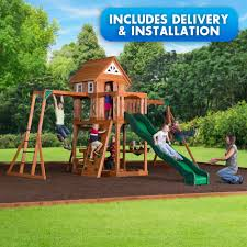 backyard discovery woodbury swingset free delivery and installation