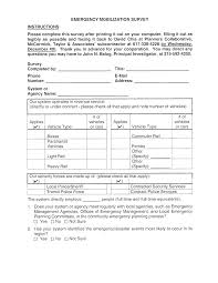 appendix a emergency mobilization survey cover letter and