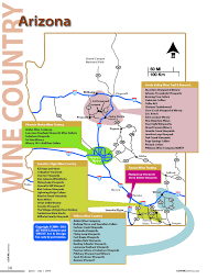 Map Of Greater Phoenix Area by Wineries Az Wine Lifestyle