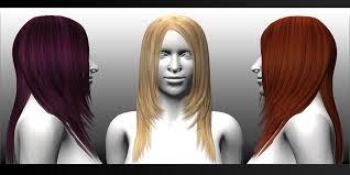 fg3d female hair pack 1 unity 3d models fg3d
