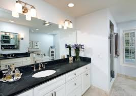 Bathroom With White Cabinets Black Countertops Luxury Bathroom - Elegant bathroom granite vanity tops household