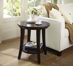 round coffee table and end tables metropolitan round side table pottery barn