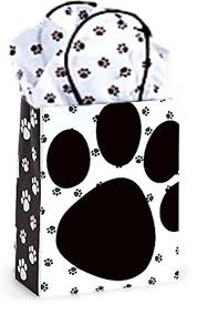 paw print tissue paper paw print white gift bag set set of 5 gift bags with paw