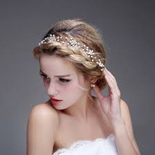 wedding hair with headband yean wedding bridal headband for for women and