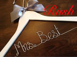 wedding gift next order ships next business daywedding hanger name