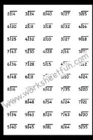 division 2digit by1digit no remainder free printable worksheets