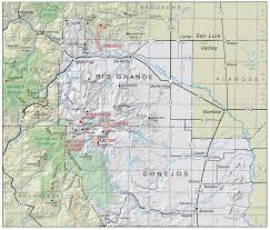 Colorado Counties Map Rio Grande County Co Image Gallery Hcpr