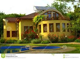 beautiful house garden pool stock photo image 46673079