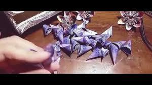cara membuat origami bunga dari uang kertas tutorial membuat bunga kertas dari uang mainan youtube