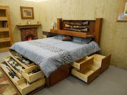 Bed Frames With Storage Drawers And Headboard Bedroom Bed Headboards With Storage Bed Headboard With