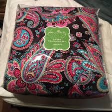 Vera Bradley Twin Comforter 41 Off Vera Bradley Accessories Nwt Sateen Comforter Set In