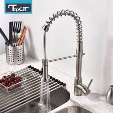 tapcet monobloc chrome brass kitchen sink pull out spray faucet