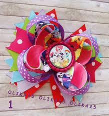 my pony ribbon my pony bows rainbow dash hair bow my pony
