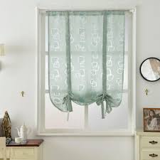 Teal Kitchen Curtains by Online Get Cheap Kitchen Curtains Valance Aliexpress Com