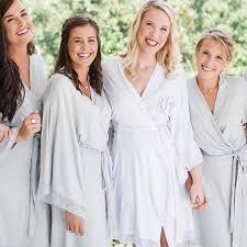 bridesmaid satin robes satin robes monogrammed robes bridesmaid robes foxblossom co