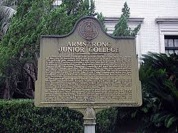 Armstrong Campus Map Armstrong Junior College Marker Historic Markers Across Georgia