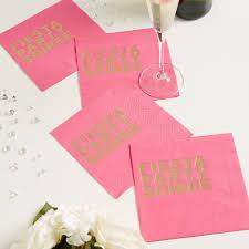 party napkins serviettes pink napkins foil napkins fiesta