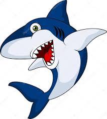 smiling shark cartoon u2014 stock vector tigatelu 23052682