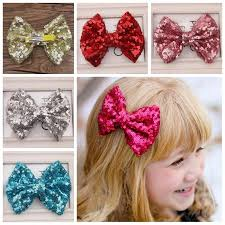 toddler hair bows girl hairpins hair bow barrettes hair sequin big bows clip