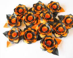 black and orange paper flower halloween flowers halloween
