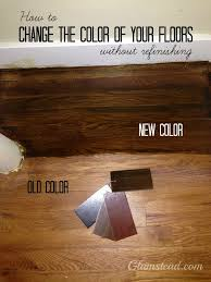 how to darken your wood floors without refinishing or replacing them