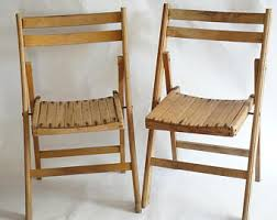 folding wood chair etsy