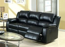 Recliner Sofa Reviews Black Reclining Leather Sofa Toreno Black Genuine Leather