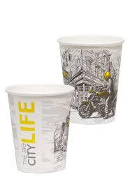 9oz single wall u201cbig city life u201d design paper cup