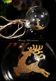 Christmas Ball Ornaments Wholesale Clear Glass Ball Ornament Christmas Decoration Gold Deer Party