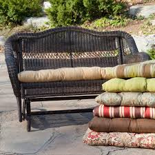 draper 4 piece wicker patio conversation set with tan cushions
