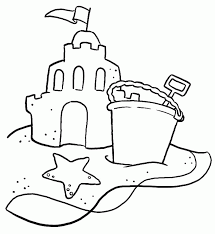 beautiful sand castle coloring structure coloring pages
