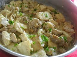 cuisiner du merlu filet de merlu et chignons en sauce moutarde la popotte de silvi
