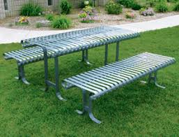 Commercial Picnic Tables by Belson Commercial Picnic Tables Metal Steel Table Has Detached