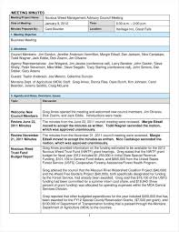 free sample minutes of meeting template sample of acknowledgement