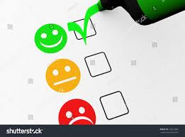 customer satisfaction happy feedback rating checklist stock
