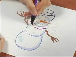 draw snowman tips coloring snowman